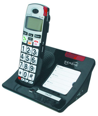 Cl60 cordless amplified telephone with caller id